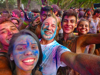 Holi Festival of Colors at Playa Dominical, Costa Rica